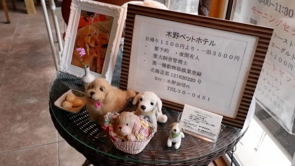 木野珈琲のペットホテル情報