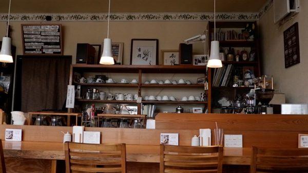 木野珈琲のカウンター席
